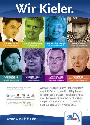 Die acht meist gewählten WIR KIELER 2012 stehen fest! Engagierte Menschen – von Kielern vorgeschlagen, von Kielern gewählt!