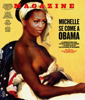 Wirbel um Halbnackt-Darstellung Michelle Obamas – Kritiker werfen spanischer Zeitschrift Verharmlosung der Sklaverei vor