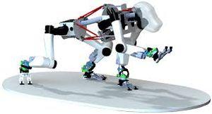 """iStruct Demonstrator"": Prototyp in Testphase (Foto: robotik.dfki-bremen.de)"