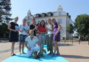 Modesommer vl.: Nena Clausen, Stefanie Maschke, Andreas Guenther, Janin Hoffmann, Alexandra Roepcke, Anja Ehret, Susanna Lindner