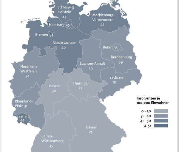 Privatinsolvenzen sinken um 8,7 Prozent – Norden bleibt Insolvenz-Hochburg