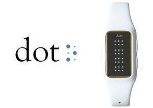 Smartwatch von Dot übersetzt Texte für Blinde