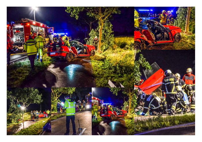Schwerer Verkehrsunfall auf der Strandstraße am Ortsausgang Dannau