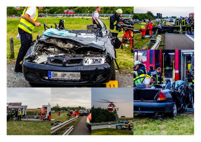 Schwerer Verkehrsunfall auf der Autobahn 1 bei Heiligenhafen